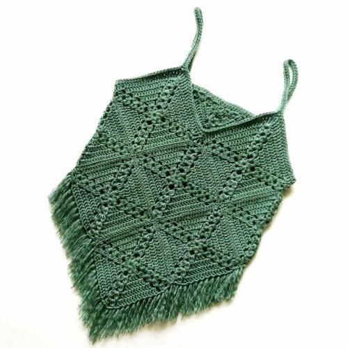 Pine cross summer top free crochet pattern front