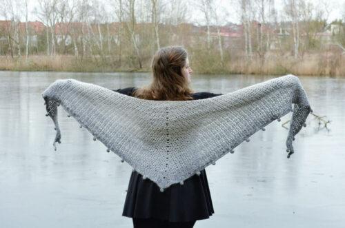 Aglaia shawl crochet pattern
