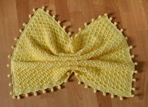 Honeycomb baby blanket crochet pattern 4 1