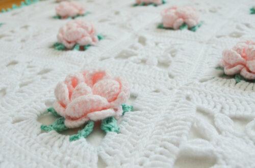 Dear Rose granny square blanket 1